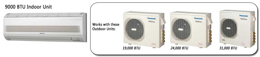 Panasonic Ductless Heat Pump Systems, Mini Splits